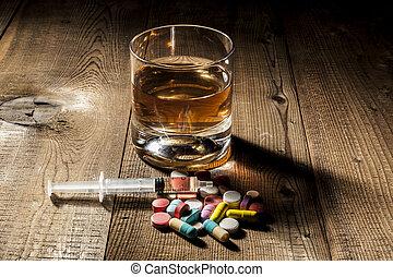 中毒, アルコール, 丸薬