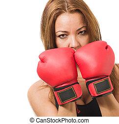 中間大人, 女性, ボクサー