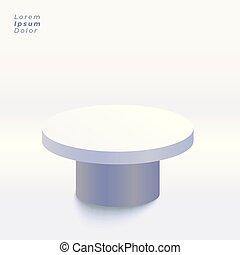 中, スタジオ, 背景, テーブル, ディスプレイ, 3d