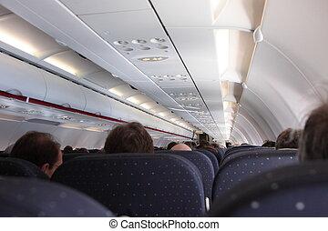 中, 定期旅客機, キャビン