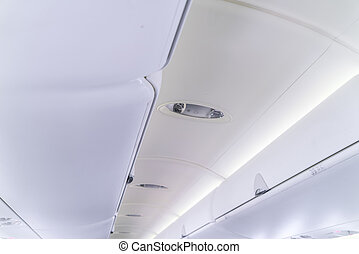 中, 航空機, キャビン