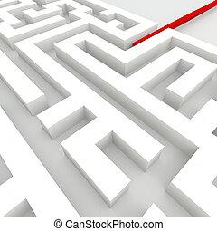 中, ∥, 迷路, -, ビジネス 概念