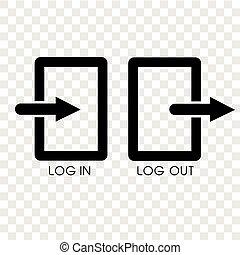 丸太, 単純である, 効果, 背景, アイコン, 透明, から