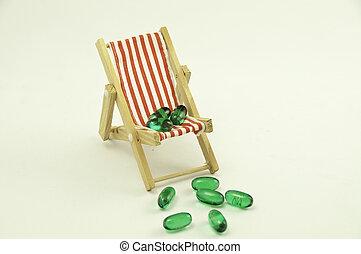 丸薬, 椅子, 赤い緑