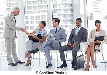 主任, 歡迎, a, 從事工商業的女性