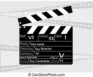 主任, 灰色, clapperboard, 背景, 電影