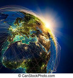 主要, 空氣, 路線, 在, 歐洲
