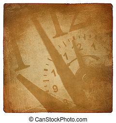 主題, グランジ, 背景, 時間