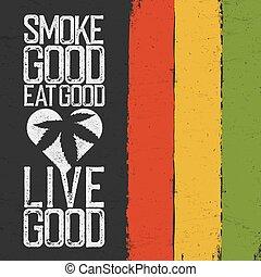 主題, グランジ, rastafarian, rasta, 引用, 生きている, バックグラウンド。, 色, 煙, ...