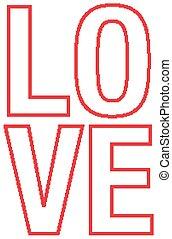 主題, デザイン, 壷, 愛, バレンタイン, 単語