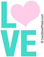 主題, デザイン, 愛, バレンタイン, 単語