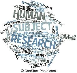 主題, 人間, 研究