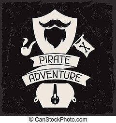 主題, 元素, 背景, 對象, 海盜