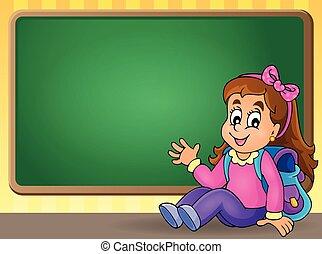 主題, 学校, イメージ, 4