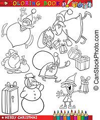主題, 着色, 漫画, クリスマス