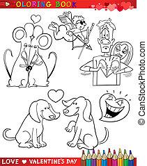 主題, 着色, 漫画, バレンタイン