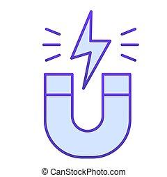 主題, 磁石, 平ら, バックグラウンド。, デザイン, icon., pictogram, 概念, 勾配, 物理学, スタイル, 磁気, ベクトル, attraction., 印, 白, エネルギー, 馬蹄