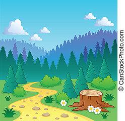 主題, 2, 森林, イメージ