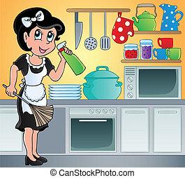 主题, 形象, 7, 厨房