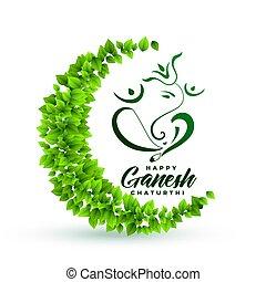 主, 葉, ganesha, ecofriendly, 背景