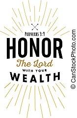 主, onor, 富, あなたの
