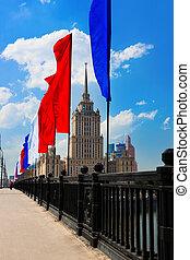 乌克兰, (radisson, 莫斯科, 旅馆, -, stalin's, 著名, royal), 摩天楼, russia