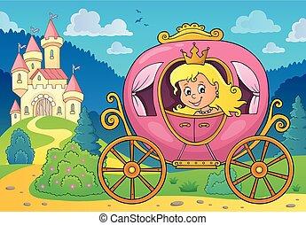 乗り物, イメージ, 2, 主題, 王女