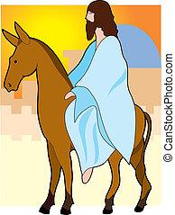 乗車, イエス・キリスト