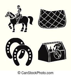 乗馬者, シンボル, web., イラスト, ベクトル, 競争, コレクション, スポーツ, logo., 株