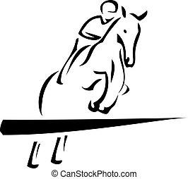 乗馬者, スポーツ