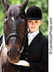 乗馬, 女の子, 馬の背