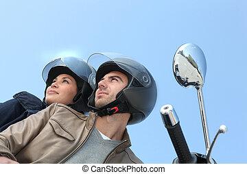 乗馬, 恋人, オートバイ