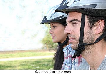 乗馬, 恋人, 自転車