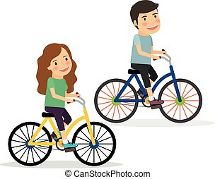 乗馬, 恋人, bicycles