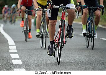 乗馬, 競争, 運動選手, サイクリスト, サイクリング, レース