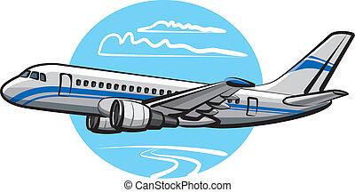 乘客, 飛機