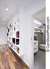 书柜, 在中, 现代, 内部