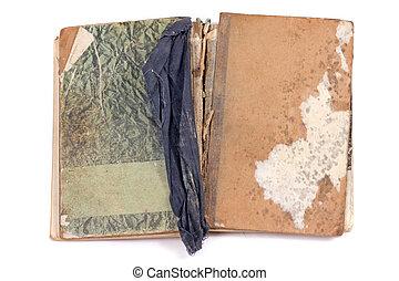 书, 老, 葡萄收获期, 白色, 古董, 打开