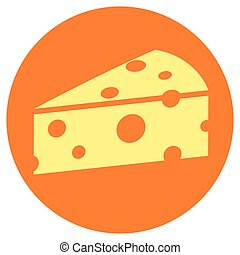 乳酪, 环绕, 概念, 图标