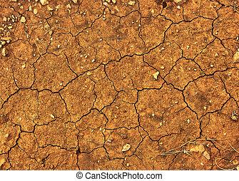 乾きなさい, ひび割れた地面