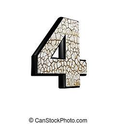 乾きなさい, ディジット, 抽象的, -, 手ざわり, 4, 地面, 3d