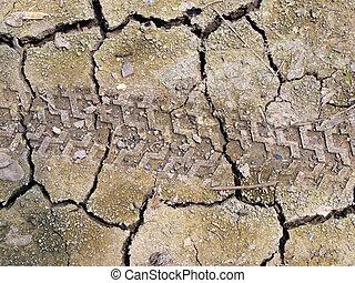 乾きなさい, 地球, 割れた, 背景