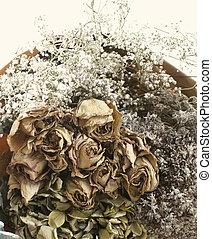 乾きなさい, 花, 花束, 中に, 型, スタイル