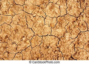 乾燥, 地面