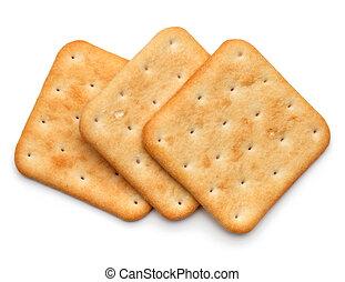 乾燥, 甜面包, 餅干, 被隔离, 背景, 白色, cutout