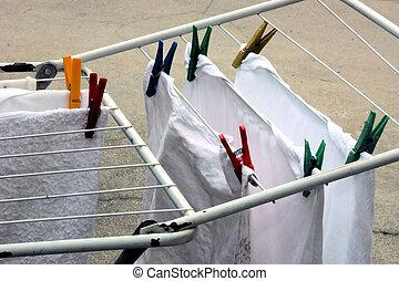 乾燥, 衣服
