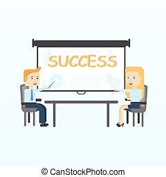 予測, ビジネス, 寄付, 現代, screen., presentation., 教師, 講義, 訓練, ∥あるいは∥, セミナー
