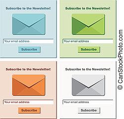 予約購読しなさい, newsletter, 形態