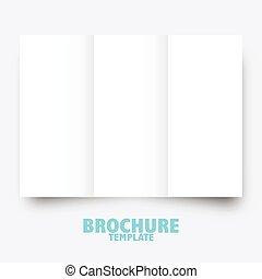 事務, 出版, presentation., 樣板, 小冊子, trifold