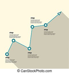 事務, 圖表, 以及, chart., 矢量, 插圖